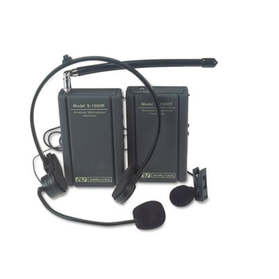 AmpliVox Wireless Lapel amp; Headset Microphone Kit- APLS160
