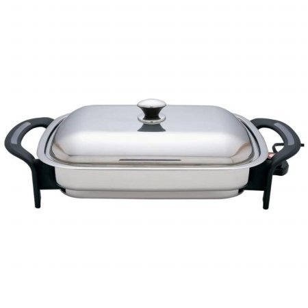 Precise Heat KTES4 16-Inch Rectangular Surgical Stainless Steel Electric Skillet ()
