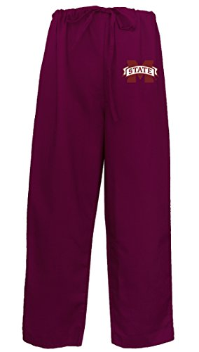Mississippi State Scrubs Bottoms Pants-Size MED- MSU Bulldogs Men Ladies Msu Mississippi State Scrub