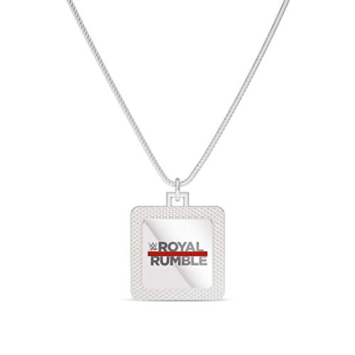 Royal Rumble WWE Royal Rumble Square Pendant in Sterling Silver