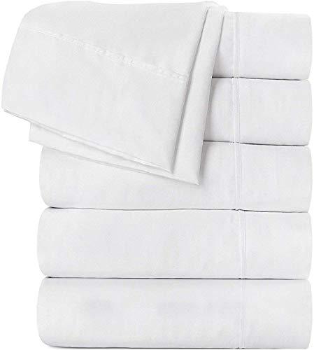Utopia Bedding Microfiber Flat Sheets Pack of 6
