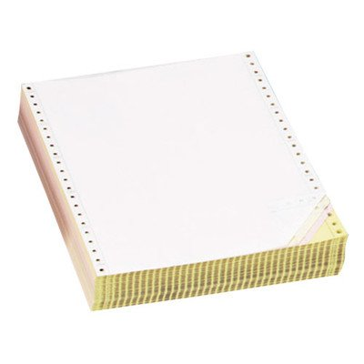 Computer Paper, Multipart, 3 Parts, 9-1/2amp;quot;x11amp;quot, White/YW/PK by Sparco