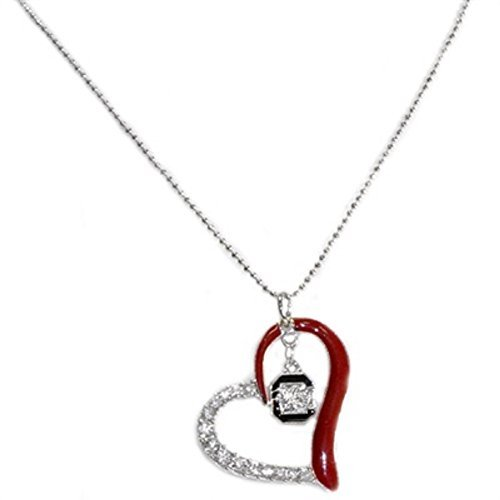 Sports Team Accessories South Carolina Gamecocks Heart Crystal Necklace