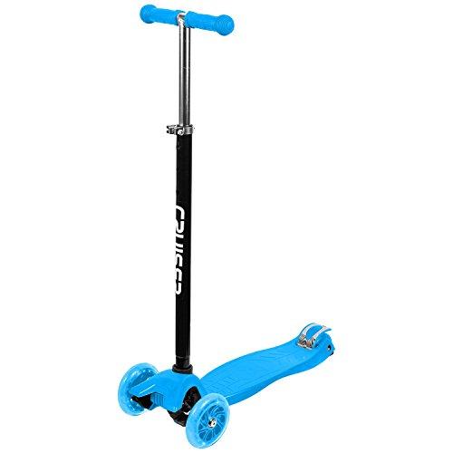 The Sidewalk Cruiser - 3 Wheel Kick Scooter (Blue)