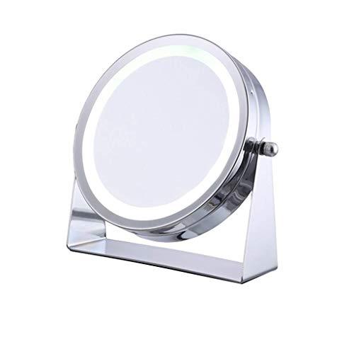 Nosterappou Espejo de escritorio LED giratorio libre de 360 grados, espejo HD, ángulo muerto cero, espejo de...
