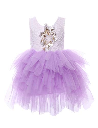 897c91067 Cilucu Flower Girls Dresses Baby Birthday Party Dress Toddlers Tutu Sequin  Dress Pageant Lace Dress Backless
