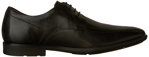 Clarks Mens Gosworth Over Oxford Scarpe In Pelle Nera