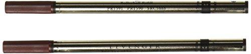 Levenger 2 Rollerball .7mm Refills Safety Ceramic, Black Medium (PR1590 BK M)