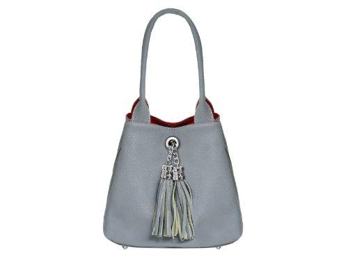 Scarlet Bijoux, Sac à main pour femme Gris (gris)
