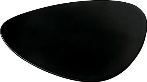 Alessi Colombina 9-Inch by 7-1/4-Inch Saucer For Teacup, Black melamine, Set of 6