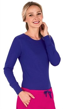 Med Couture 4859 Long Sleeve Tee (Peri, XX-Large)