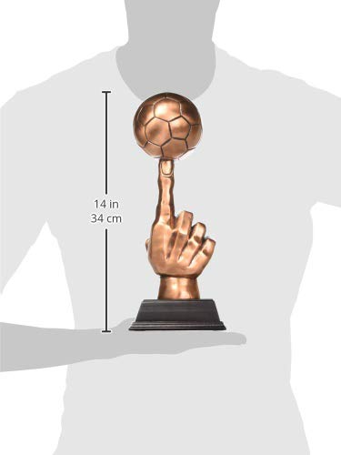 13 Inch Copper Color Single Finger Football Figurine Statue 13 StealStreet SS-BA-C554