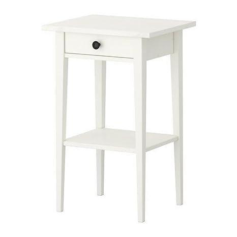 IKEA HEMNES - Mesa auxiliar con cajón, color blanco ...
