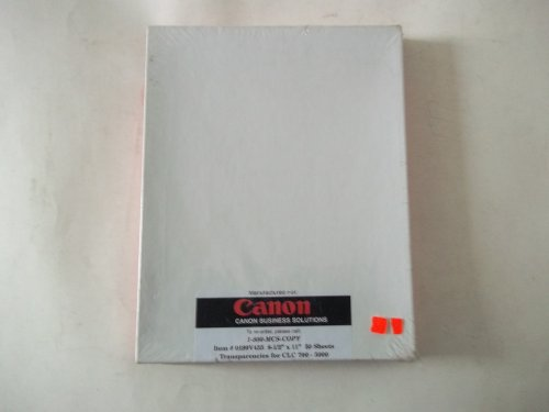Canon 0199V435 8 1/2'' x 11'' 50 Sheets Transparencies for CLC 700 - 5000 by Canon