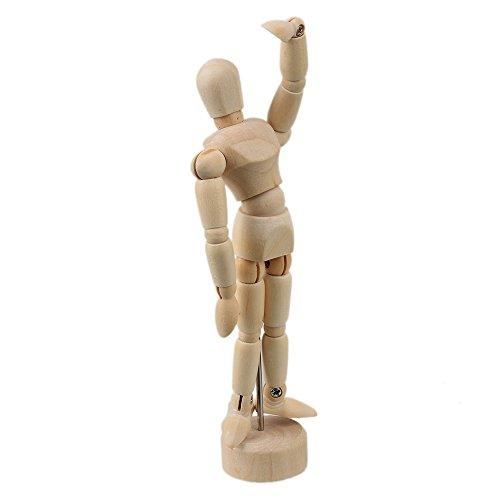 木製4.7`芸術感溢れの傀儡人形美術スケッチデザイン