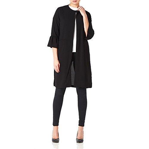Black Unlined Coat Womens Long Anastasia Black Evening aq6PxP