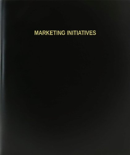 BookFactory® Marketing Initiatives Log Book / Journal / Logbook - 120 Page, 8.5''x11'', Black Hardbound (XLog-120-7CS-A-L-Black(Marketing Initiatives Log Book)) by BookFactory
