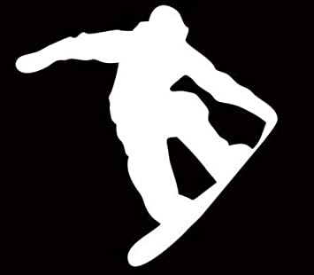 "Snowboard snowboarder Sticker Decal Graphic board ride 4/"" White Die Cut 2 for 1"