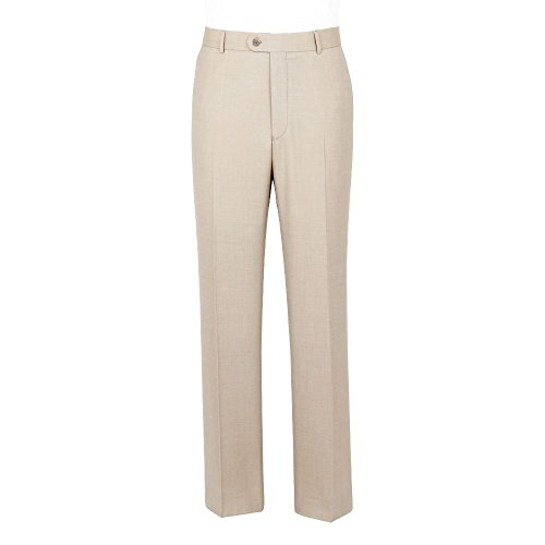 SCOTT Linen Blend Summer Weight Stone Suit Trouser In 52S by SCOTT