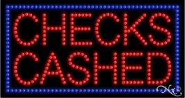 Led Sign Cashed Checks (Checks Cashed LED Sign (High Impact, Energy Efficient))