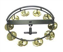 Tycoon Percussion TBHH-10B Large Hi-Hat Tambourine, 10 Pair Brass ()