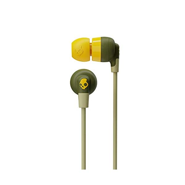 Skullcandy Inkd Plus Wireless in-Earphone with Mic (Moss/Olive/Yellow) 2021 August Up to 8 Hours of Battery Life Rapid Charge: 10 Minutes = 2 Hours Microphone, Call, Track, and Volume Control