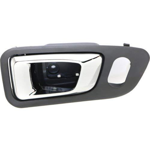 - Interior Front Door Handle Compatible with HONDA PILOT 2003-2008 RH Chrome+Fern (Dark Gray) Plastic