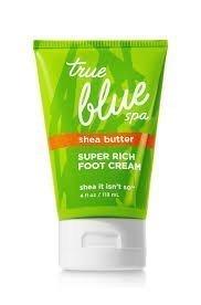 Bath and Body Works True Blue Spa Shea Butter Super Rich Foot Cream Shea It Isn't So, 4 fl oz (118 mL)