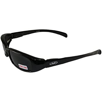 0446aae7bd9ca Global Vision New Attitude Motorcycle Glasses (Black with Flames Super Dark  Lens)