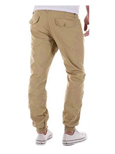 De Unie Sport Pantalon Décontracté Poches Jogging Avec Kaki Crystallly Homme Printemps Style Automne Simple Extérieur Couleur YgqCCwPxS
