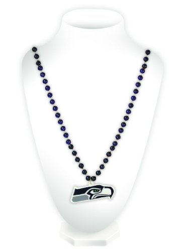NFL Seattle Seahawks Beads with Logo Medallion