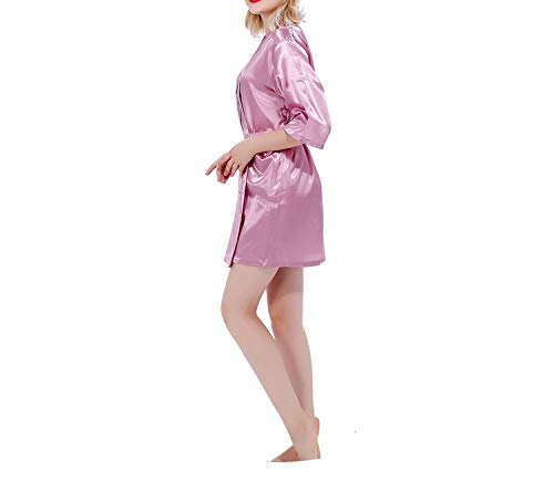 (RB030 Sexy Large Size Sexy Satin Night Robe Lace Bathrobe Perfect Dressing,As The Photo show15,XL)