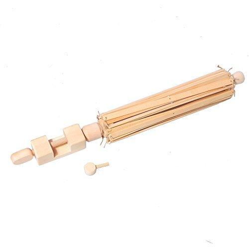 Shichique Umbrella Bobbin Winder, Wooden Swift Yarn Winder Holder for Winding Lines, Fiber, Yarns or Other Strings