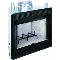 Comfort Flame B36L-M Builder Wood Burning Fireplace, 36-Inch