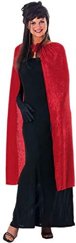 (Rubie's Women's 45-Inch Panne Velvet Cape, Red, One Size )