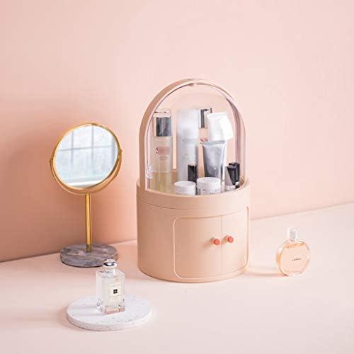 化粧品収納ボックス 蓋付き家庭用プッシュプル化粧品収納ボックス多層大容量透明ラックアクリル防水および防塵 JSSFQK (Color : A)