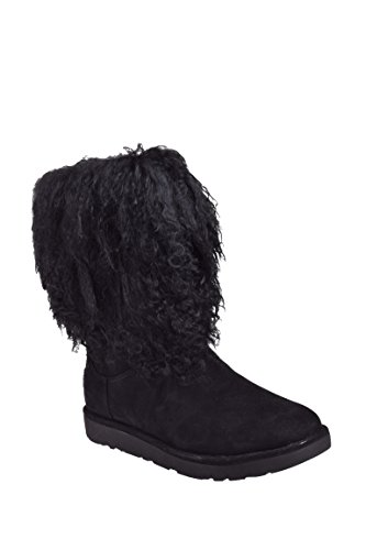 UGG Womens LIDA Black Boot - 6 (Cozy Footwear Ugg)