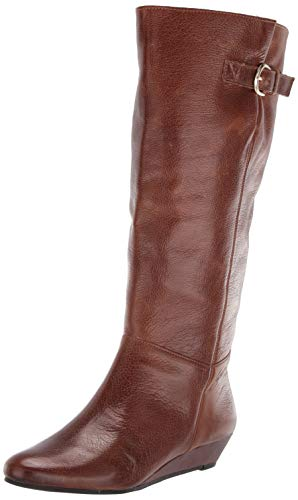 STEVEN by Steve Madden BOOT , Cognac Leather,8 Wide
