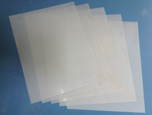 """Heavy Duty 14mil Mylar Stencil Sheets - .014"""" Thick Polyester Sheet 6""""x10"""" (5-Pack)"""