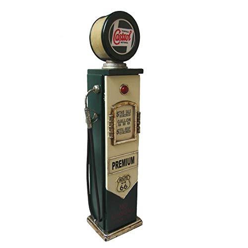 'Retro Vintage armadio/armadietto da parete CASTROL pompa di benzina con illuminazione–Verde/Crema CristalRay PREMIUM