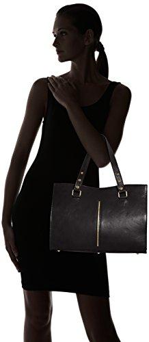 classique Noir Nero cuir Italy 100 Sac in Made femme CTM véritable 38x27x12cm EBvAwUq