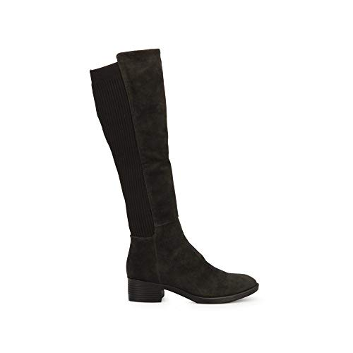 Cole Suede Kenneth Sandals (Kenneth Cole New York Women's Levon Tall Shaft Pull On Boot Knee High, Dark Grey, 8.5 M US)