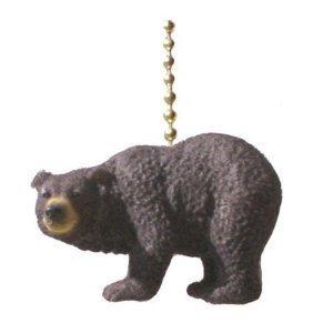 Black Bear Decorative Ceiling Fan Light Pull ()
