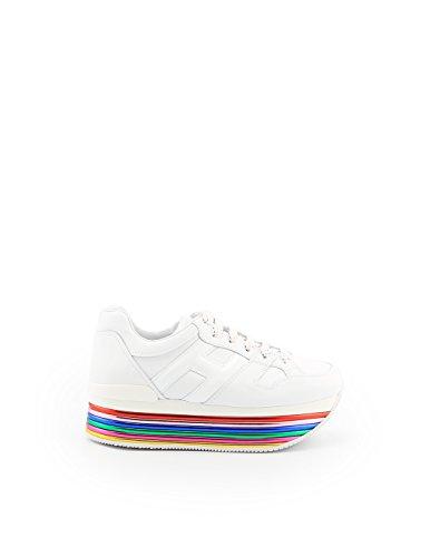 Cuero para Mujer de Hogan Blanco Zapatillas Bianco qwAC00
