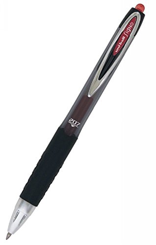 uni-ball 207 Retractable Gel Pens, Medium Point (0.7mm), Red, 2 Count