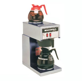Bloomfield 8543-D2 Koffee King Coffee Brewer, Low Profile, Pour-Over Option, Single, 1 Lower, 1 Upper, Stainless Steel, 14'' Depth, 8 3/4'' Width, 16 7/8'' Height