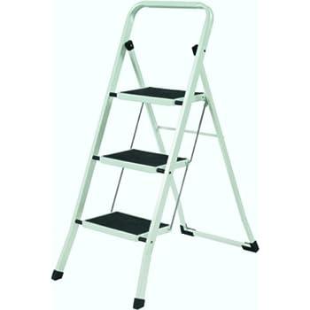 YBM Home Folding Lightweight Step Ladder Step Stool  3-steps White and Black  sc 1 st  Amazon.com & YBM Home Folding Lightweight Step Ladder Step Stool 3-steps ... islam-shia.org