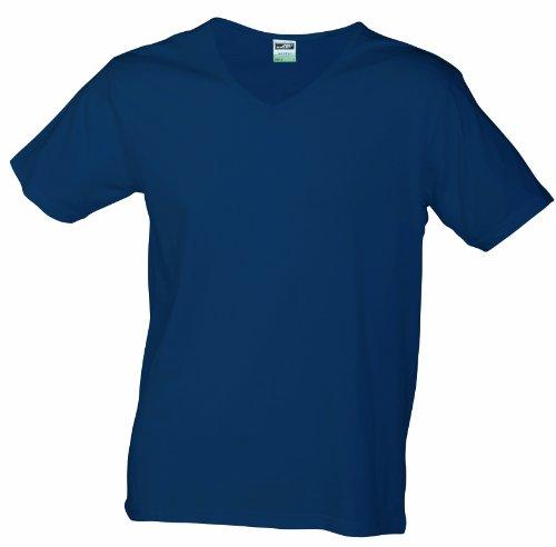 Nicholson Uomo T neck V shirt amp; Blu James Fit Slim navy PFgTw85q