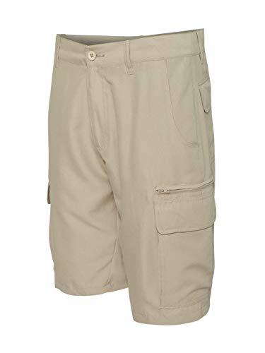 Burnside B9803 Men's Microfiber Shorts Stone ()