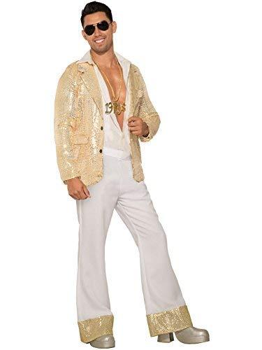 Forum Novelties Men's 70's White Shiny Disco Pants